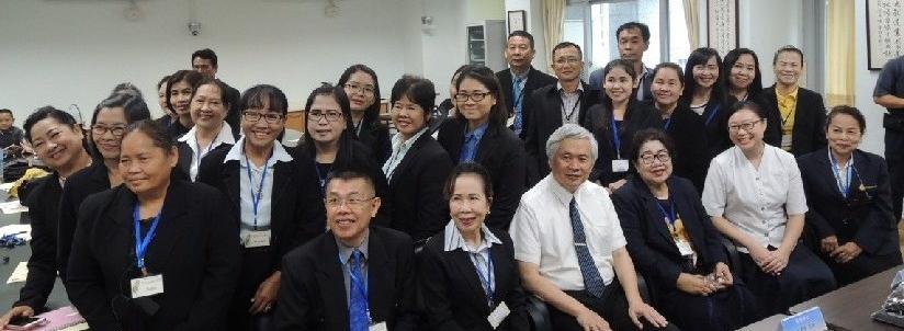 慈濟大學2018泰國華語人文營,帶領學員學習華語瞭解慈濟人文教育。(20181022)