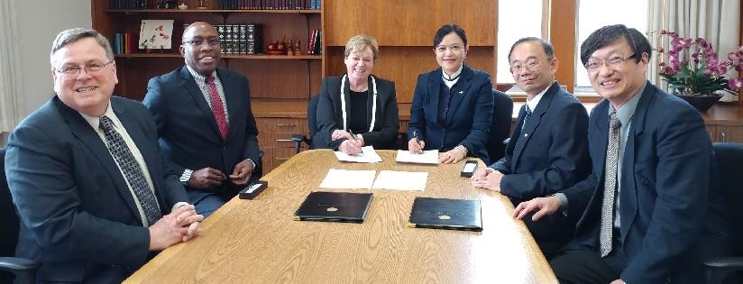 慈濟大學與安德魯大學簽署碩士雙聯學位,攜手推動跨國教育合作。 (20190214)