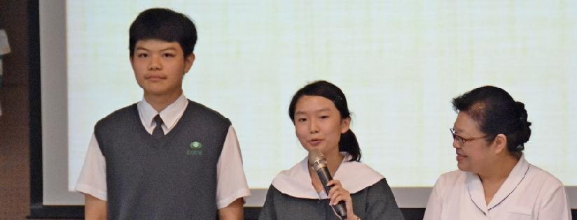慈大附中上榜菁英,為面對108學年度新課綱執行的第一屆國三考生傳授考試秘笈。(20190518)