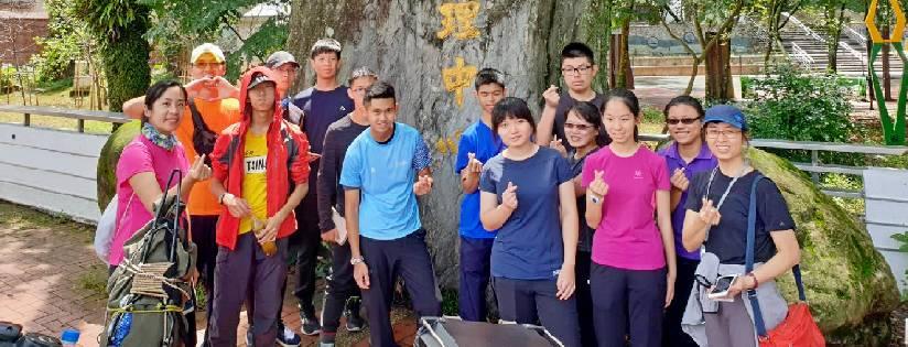 臺南慈濟高中師生來到梅峰農場戶外踏查,進行山野教育課程。(20190518)