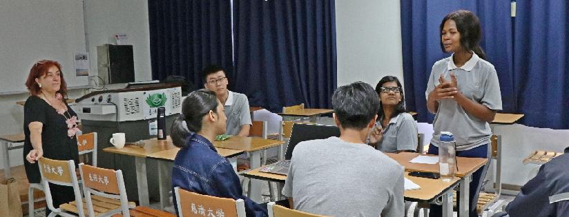 慈濟大學邀請世界衛生組織顧問Cristina Tirado教授演說氣候變遷議題。(20190627)