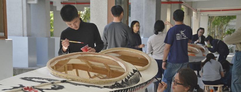 鋸木造舟,乘風破浪~慈科大師生自製獨木舟航行。(20200303)