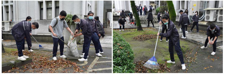 外籍學生參與歲末大掃除 搶先領紅包
